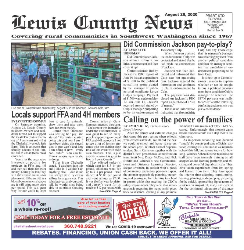 August 26, 2020 Lewis County News