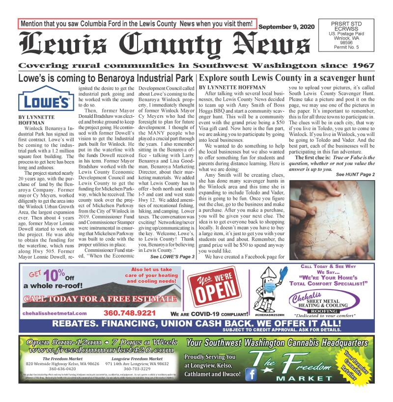 September 9, 2020 Lewis County News