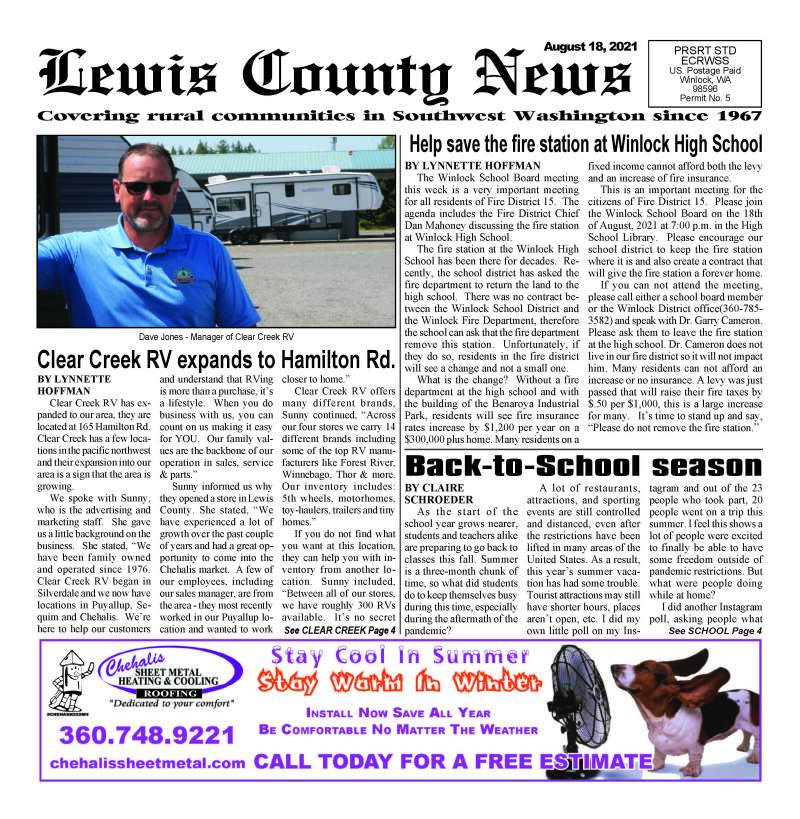 August 18, 2021 Lewis County News