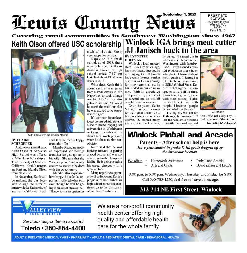 September 1, 2021 Lewis County News