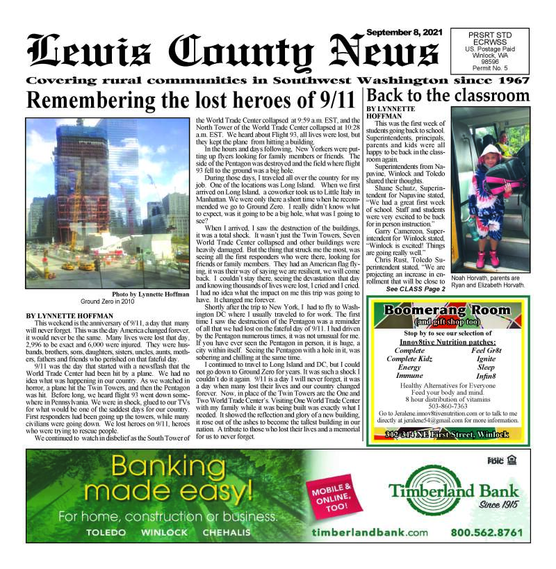 September 8, 2021 Lewis County News