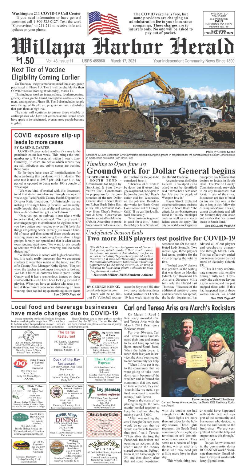March 17, 2021 Willapa Harbor Herald and Pacific County Press