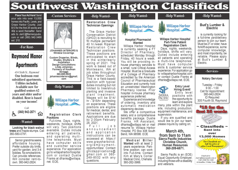 Classifieds 2.24.21