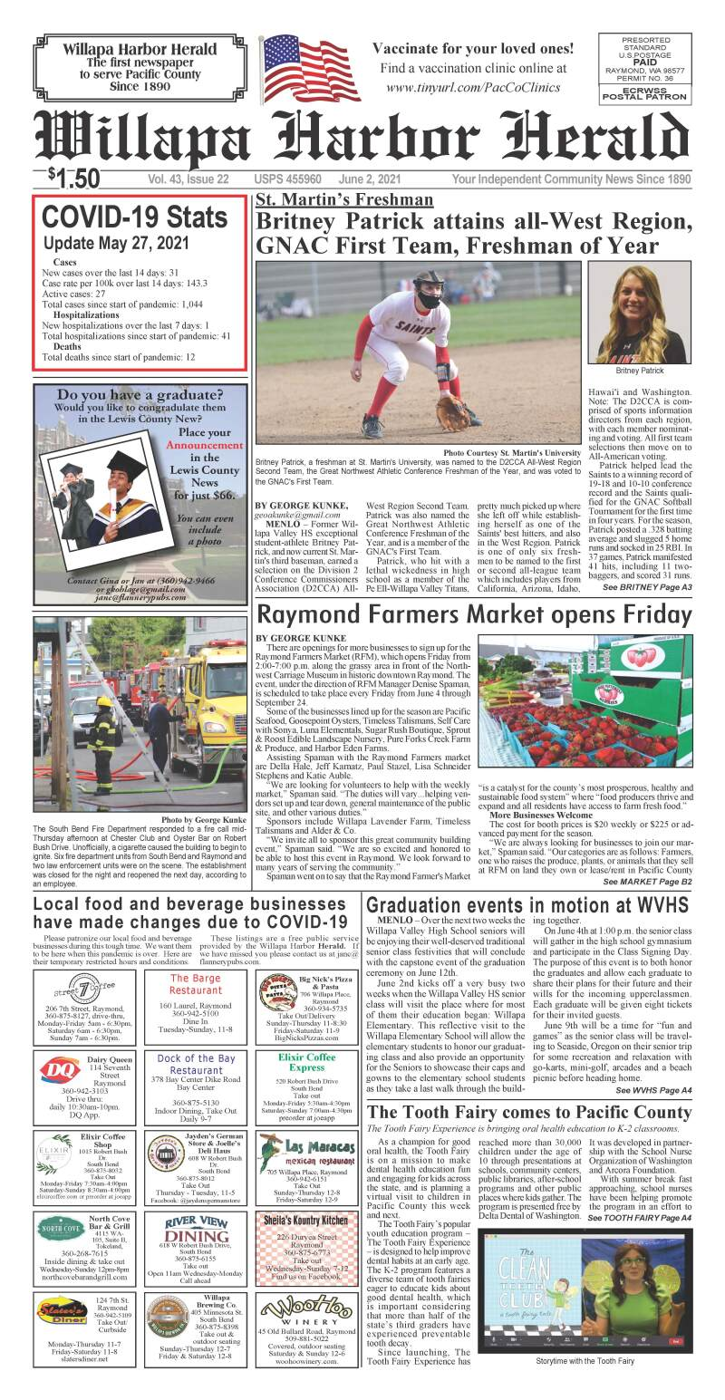 June 2, 2021 Willapa Harbor Herald and Pacific County Press