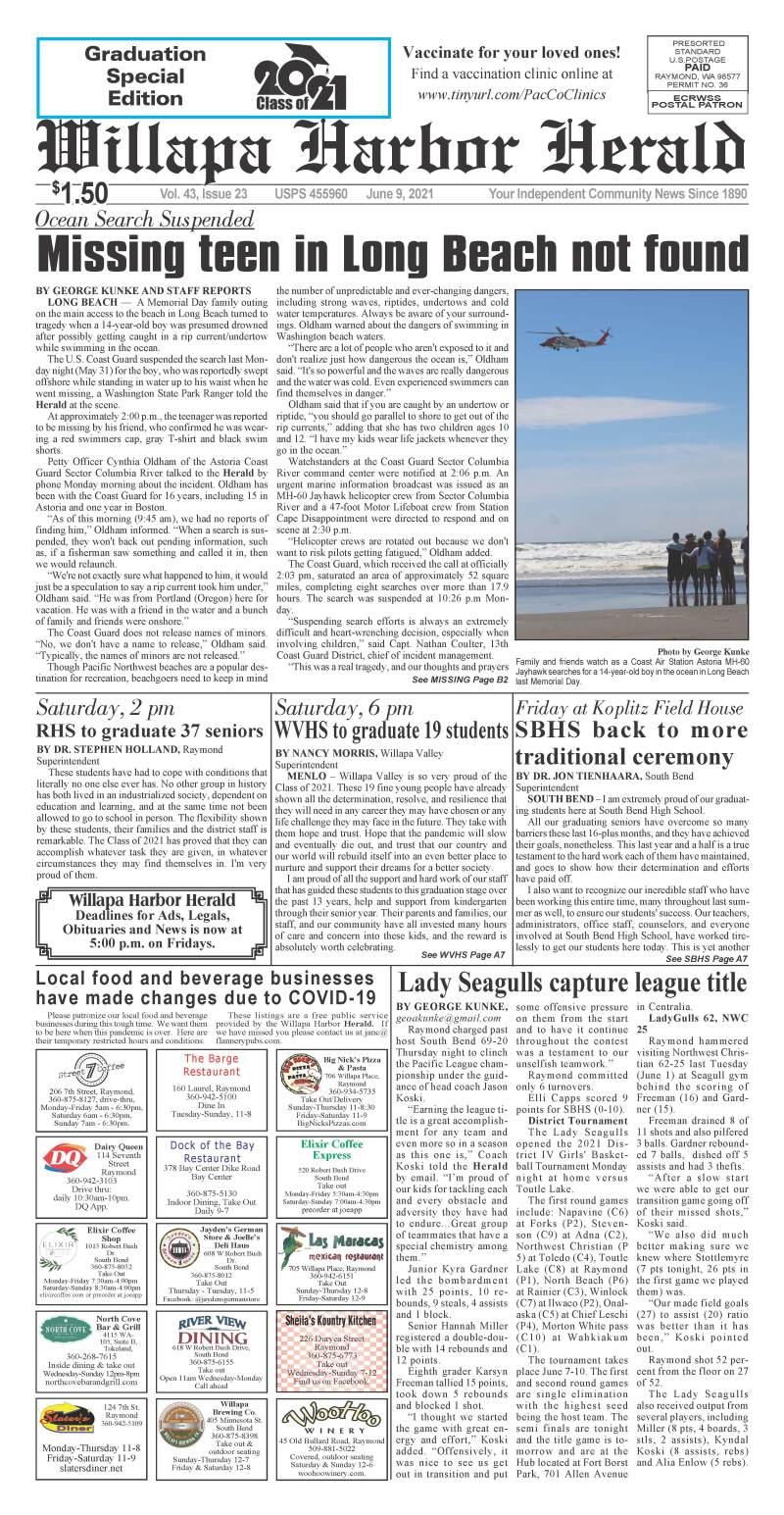 June 9, 2021 Willapa Harbor Herald and Pacific County Press