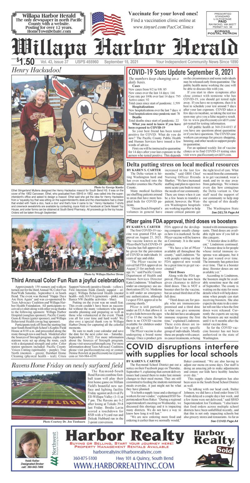 September 15, 2021 Willapa Harbor Herald and Pacific County Press