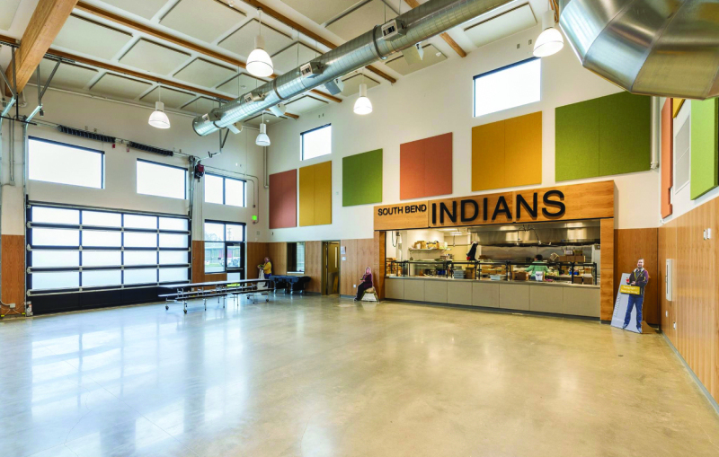 Photo Courtesy Dr. Jon Tienhaara - The cafeteria at Mike Morris Elementary certainly makes eating more enjoyable.
