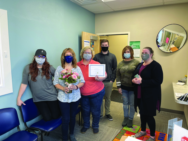 Photo courtesy of the Willapa Harbor Chamber of Commerce -The Pacific County Health Department recieved one of the 2020 Hero Awards.