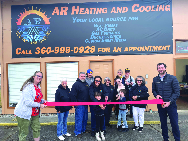 Photo by Bob Rockett - The Willapa Harbor Chamber of Commerce held a ribbon cutting ceremony for AR Heating on May 25. Please congratulate Jeff and Sonja and welcome them back to the community.