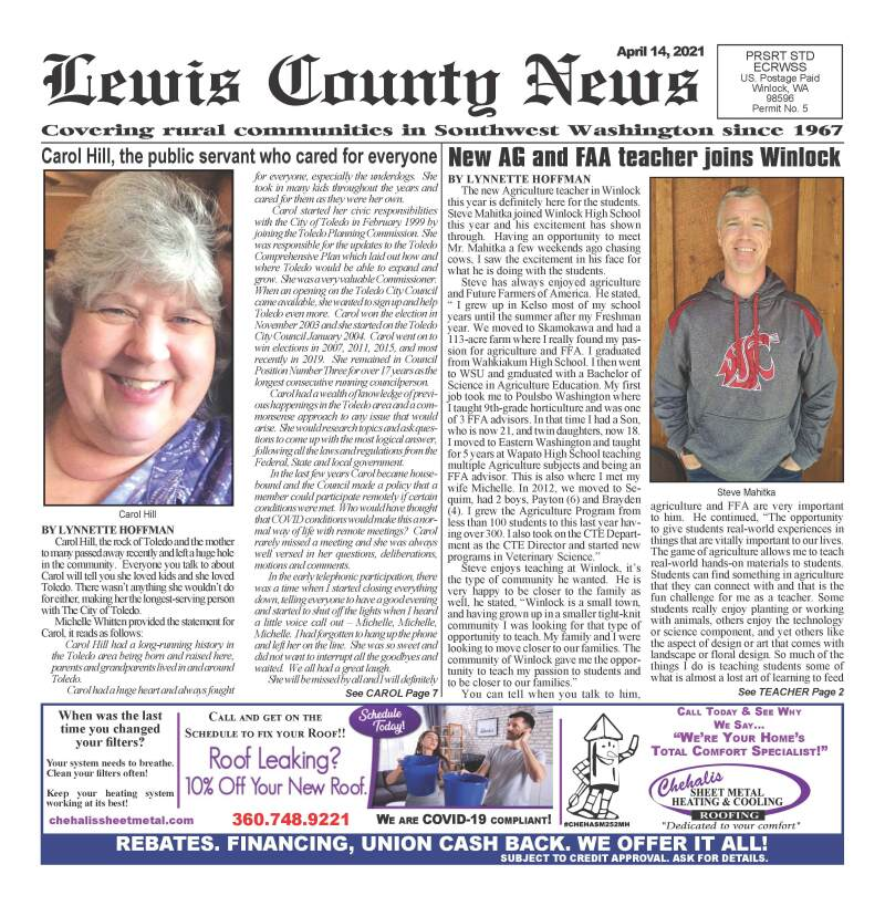 April 14, 2021 Lewis County News