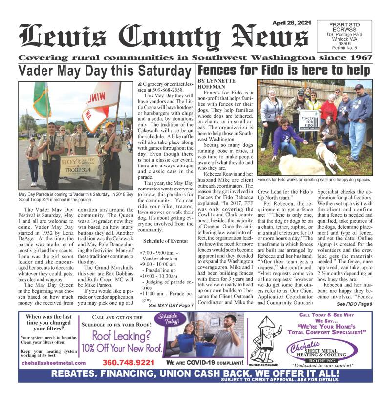 April 28, 2021 Lewis County News