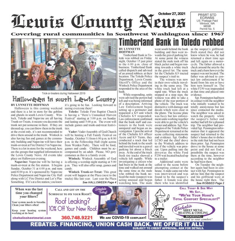 October 27, 2021 Lewis County News