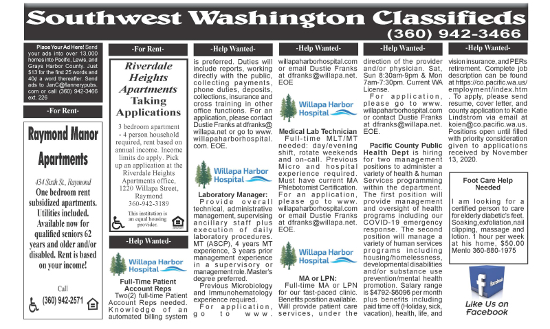Classifieds 11.11.20