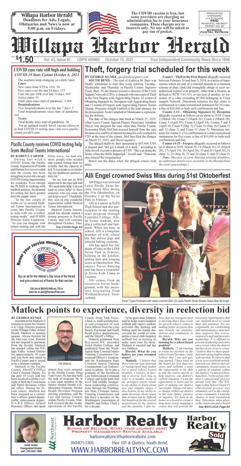 October 13, 2021 Willapa Harbor Herald and Pacific County Press