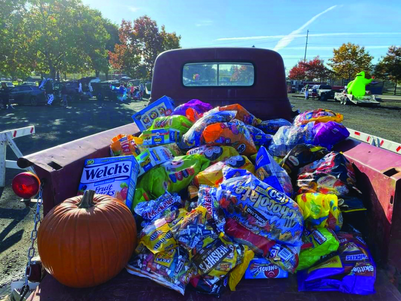 Courtesy Photo Truck with all the candy donated by local businesses for the 2020 Pacific County Trunk or Treat event.